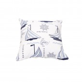 Cushion Cover A 13 - Boat Print (45 x 45cm)