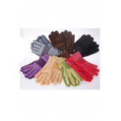Lady Leather Glove 01 -  Mixed Colors (12 pcs)