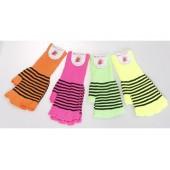 Striped Fashion Fingerless Glove (Mix Dozen Pack)