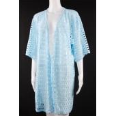 Lace Kaftan Kimono 03 Blue
