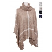 Triangle Turtleneck Poncho