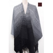 U Shape Poncho Two Tone