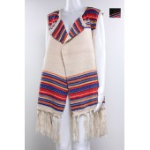 Vest Poncho with Tassel