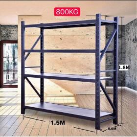 1.5m(L) x 0.6m(D) x 1.8m(H) Shelving Rack