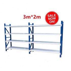 3m(L) x 0.6m(D) x 2m(H) Shelving Rack