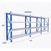 6m(L) x 0.6m(D) x 2m(H) Shelving Rack