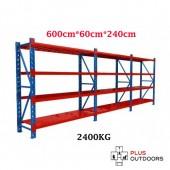 6m(L) x 0.6m(D) x 2.4m(H) Shelving Rack