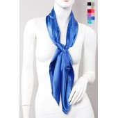 Plain Square Silky Scarf - 12 Colours