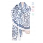 Cotton Scarf Leopard Print