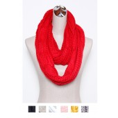 Knitted Tube Scarf 05