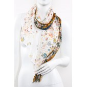 Soft Silk Printed Scarf A23