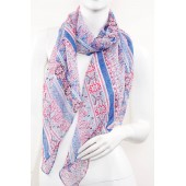 Soft Silk Printed Scarf A24