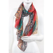 Soft Silk Printed Scarf A26