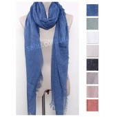 XL Dot Linen Scarf (8 Colours)