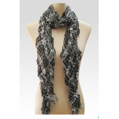 Check Pleat Effect Scarf